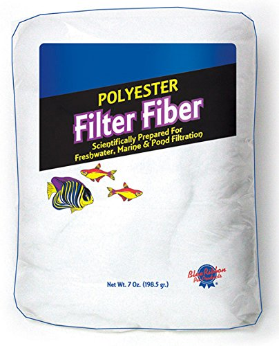 Blue Ribbon Pet Products ABLPLY7 Polyester Floss Bag Filter Media for Aquarium, 7-Ounce ()