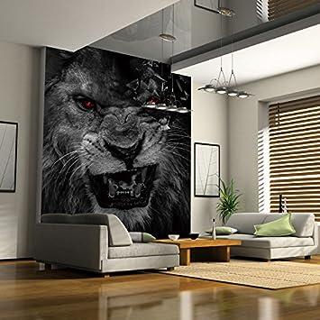 Wapel Living Room Bedroom Animal Lion Black White Wallpaper Hotel Restaurant Retro Background Wall 3d Mural 250cmx175cm Amazon Com