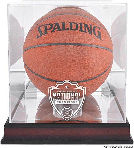 Sports Memorabilia Villanova Wildcats 2018 NCAA Men's Basketball National Champions Mahogany Basketball Logo Display Case