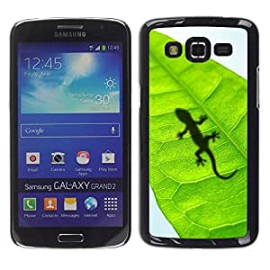 Impact Case Cover with Art Pattern Designs FOR Samsung Galaxy Grand 2 Cute Lizard Leaf Reptile Gecko Betty shop