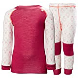 Helly Hansen Kids LIFA Merino Wool Warm Baselayer Set Top and Bottom, 183 Persian Red, Size 4