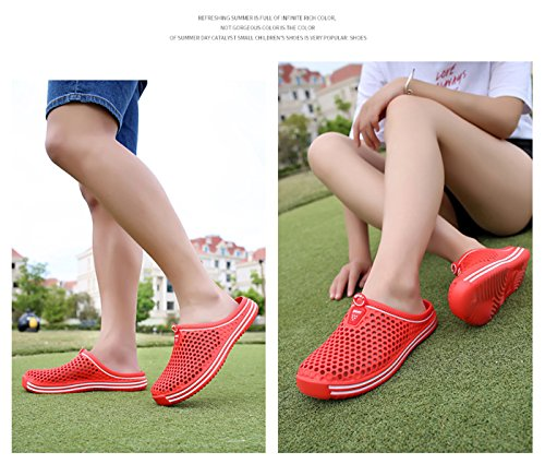 161 Femme YY Margay Red Mules T6Xwxa