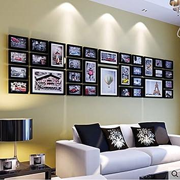 Amazon.de: Hauptdekoration-Foto-Wand Holz kreative Fotowand ...