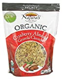 New England Natural Bakers Organic Cranberry Almond Granola Clusters 11 Ounces (Case of 6)