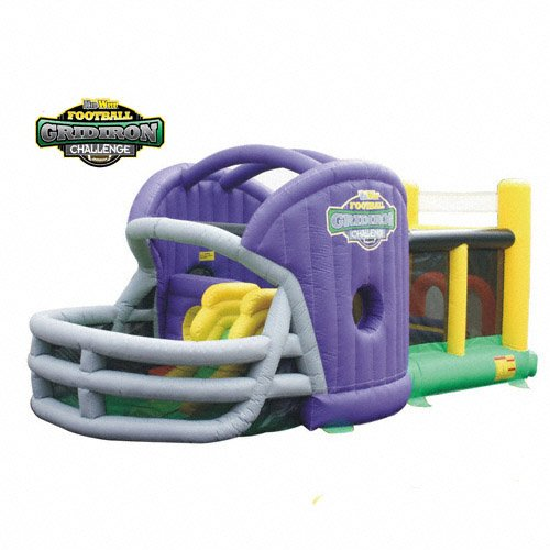 KIDWISE Gridiron Football Challenge Gameday Commercial Grade Bounce House - Purple