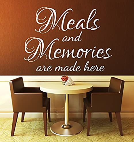 Kitchen Wall Decal , Kitchen Wall Quotes , Meals and