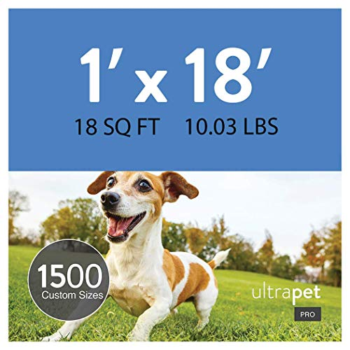 UltraHedge 1 x 18 Ft UltraPet Pro Artificial Grass for Pet Dog Potty Outdoor or Indoor Green Faux Fake Grass Decor Synthetic Grass Mat Rug Pad Carpet Turf 18 SqFt 1