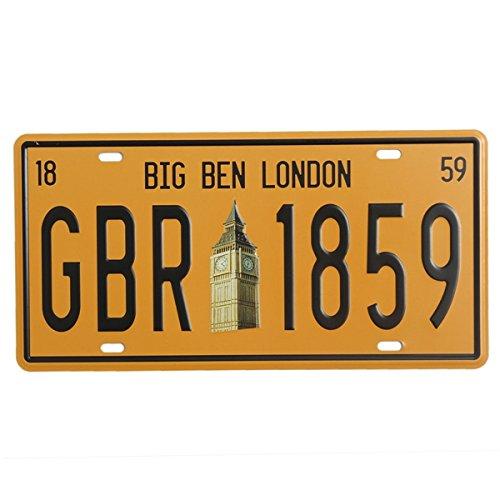 BaBaSM Placa de Metal Cartel de Chapa Big Ben Londres Matrícula Cartel de Chapa Vintage Placa de Metal Cartel Bar Pub Decoración de La Pared
