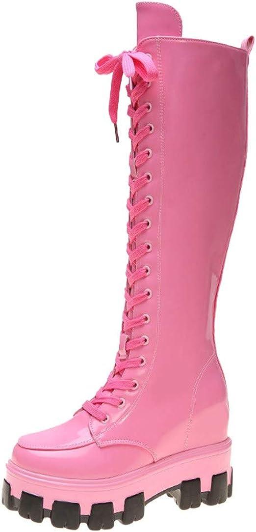 Posional Botas Vintage con Punta Puntiaguda para Mujer Zapatos Planos De Cremallera Botines Cortos Invierno Cuero Mujer Moda Cuadrados Botas Individuales Trabajo Casuales: Amazon.es: Ropa y accesorios