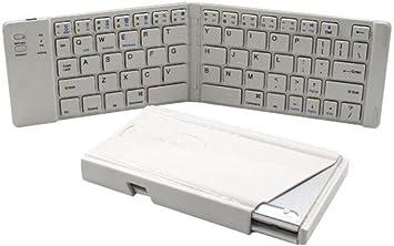 happybeauty teclado bluetooth plegable, mini teclado ...