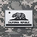 California State Flag PVC Rubber Morale Patch by NEO Tactical Gear Morale Patch - Hook Velcro Sewn On Back (SWAT)