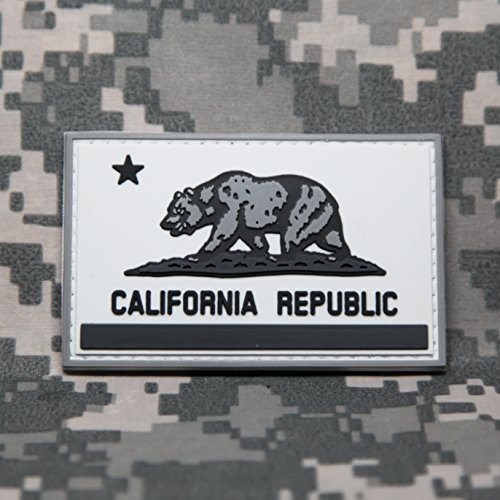 Cobra Trooper Costumes (California State Flag PVC Rubber Morale Patch by NEO Tactical Gear Morale Patch - Hook Velcro Sewn On Back (SWAT))