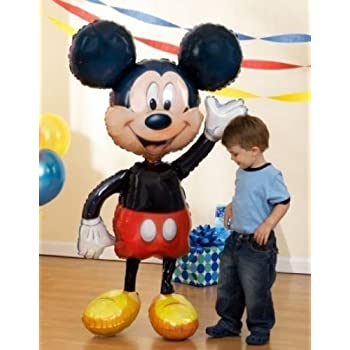 "MICKEY Mouse Ears 52"" Air WALKER AIRWALKER JUMBO Birthday Party Mylar Balloon"