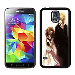 Unique Designed With Anime Couple Cover Case For Samsung Galaxy S5 I9600 G900a G900v G900p G900t G900w Black Phone Case CR-031