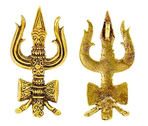 [Trishula Trident of lord Shiva Trisula Trishul om aum deity harmony of life hindu with necklace &] (Devil May Cry 3 Costumes)