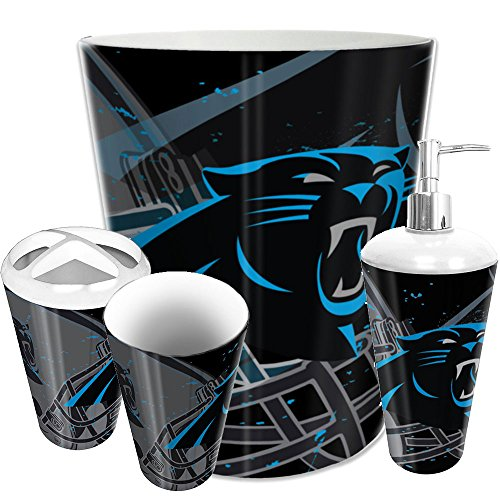 Carolina Panthers Nfl Bedding - The Northwest Company Carolina Panthers NFL 4 Piece Bathroom Decorative Set (Scatter Series)