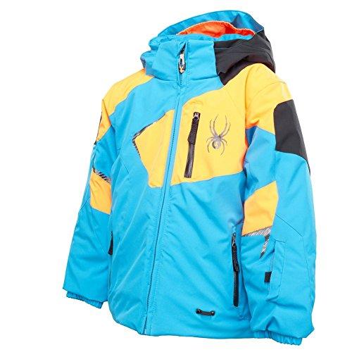- Spyder Mini Leader Jacket Youth Electric Blue / Bryte Orange / Black