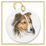 Ornament decorated with a Shetland Sheepdog - Sheltie Dog