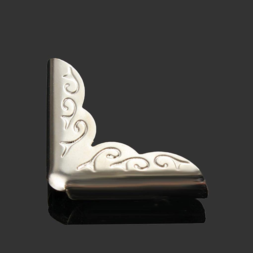 Yongse 4 PC de la astilla del tono del libro Scrapbooking á lbumes Patró n Menú s carpetas protector de la esquina de las Flores