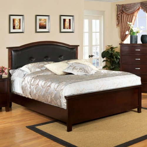 24/7 Shop at Home 247SHOPATHOME IDF-7599CK Panel Bed, California King, Cherry California King Cherry Footboard