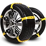 Snow Chains For Suv Anti Slip Tire Chains For Car Adjustable Snow Tire Cable Mergency Car Chains 185mm-295mm 10 PC