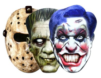 Horror Mask 3 Pack - Hockey, Frankenstein and Clown Masks]()