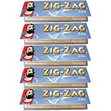 ZIG-ZAG Silver Ultra Fine Rolling Papers 1 1/4 Size 5 Pack