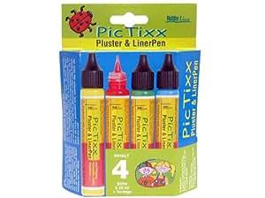 Hobby Line 49890 PicTixx - Rotuladores para pintar en tejidos (4 colores)