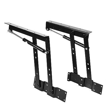 Lift Top Coffee Table Mechanism.Table Lifting Frame 2pcs Practical Lift Up Top Coffee Table Mechanism Hardware Lifting Frame Spring Hinges Height Adjustable Desk Converter