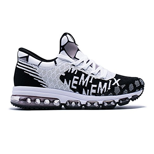 Fitness Running Black Women's Walking Knit Men's Sports And Trainers top Onemix Cushion White Air Mid Shoes 67vxwqf