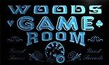 PL1107-b Woods Game Room Man Cave Beer Bar Neon Light Sign