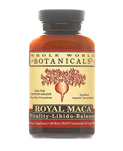 Monde entier Botanicals - Maca organique Royal 180 - plantes médicinales herbes