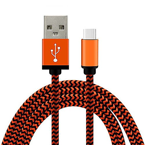 MMRM 1M/3FT USB 3.1 Type C Male to USB 2.0 Male Charging Cable Knitting Data Cord for Nokia N1 - Orange