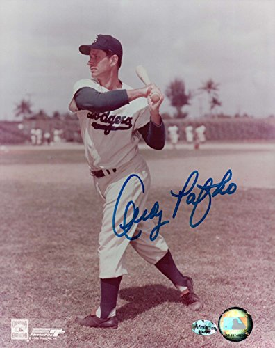 Andy Pafko Signed 8X10 Vintage Photo Autograph Dodgers Swing Pose Auto COA