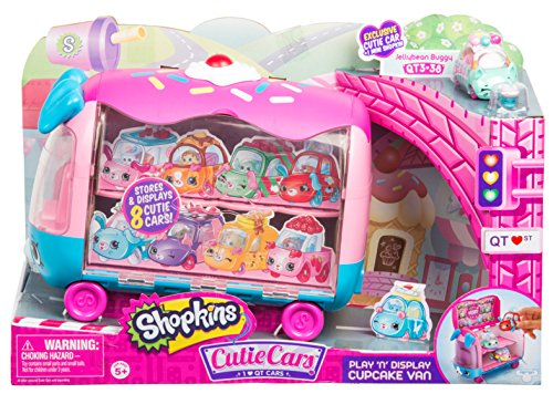 Shopkins Cutie Cars   Play 'n' Display Cupcake Van with Exclusive Cutie Car Mini ()