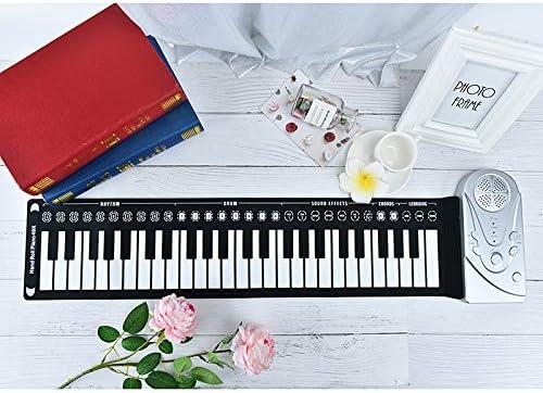 Panghuhu88 49 Keys Electronic Piano Keyboard Portable Usb Keyboard Roll-Up Piano Flexible
