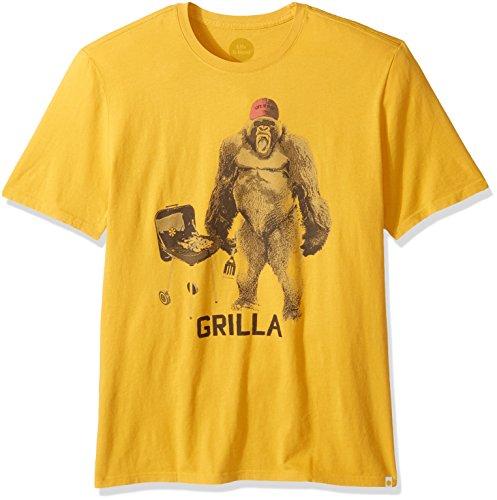 Life is Good Men's Grilla Gorilla Smooth Tee, Summer Gold, ()