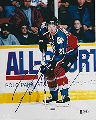 Peter Forsberg Signed Colorado Avalanche 8x10 Photo With - Beckett Certified