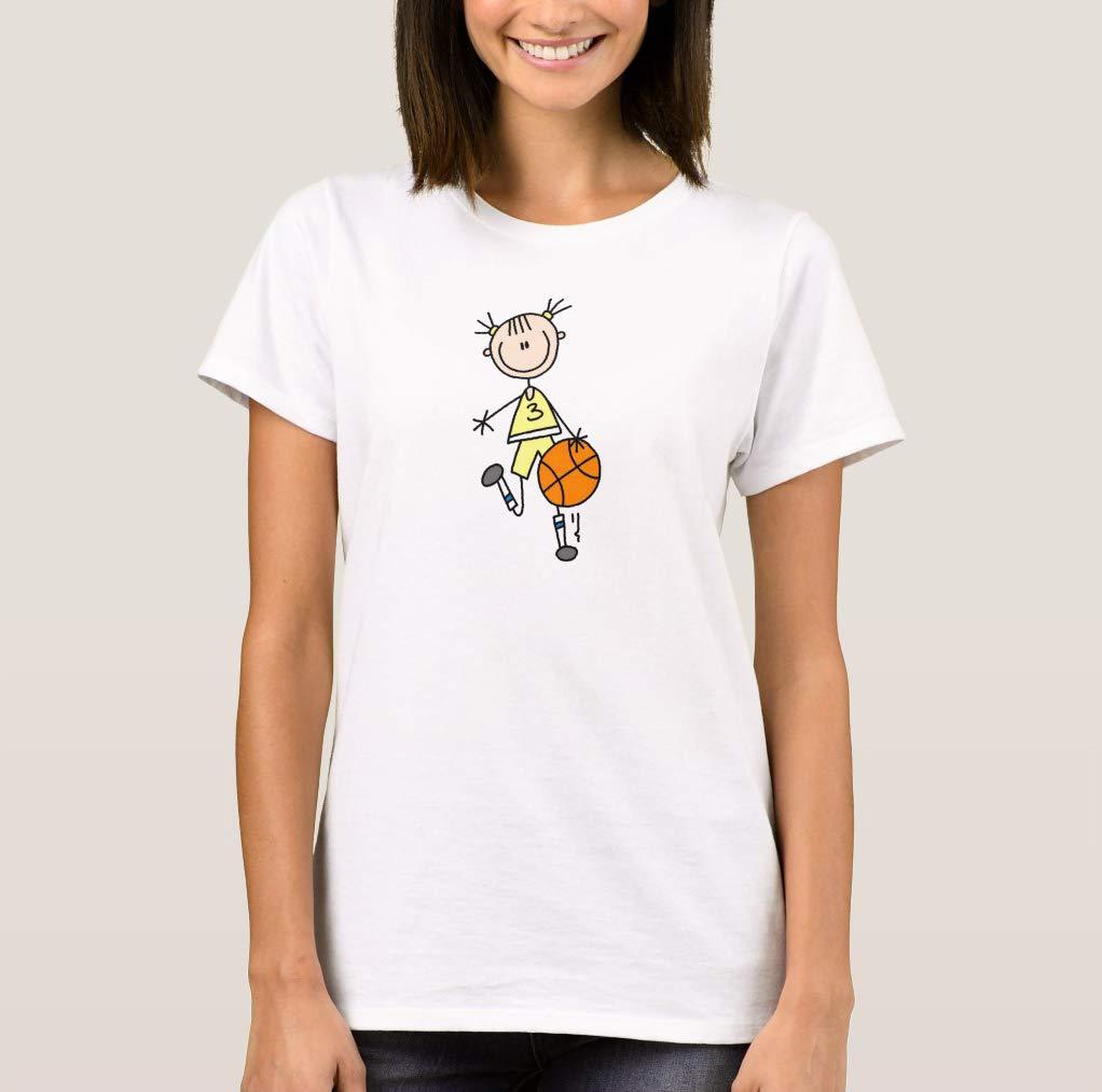 Crazymonkeyshirt Cute Dunk Girl Basketball T Shirt For Funny Short Sleeve Tees