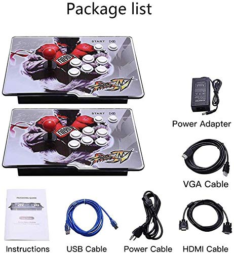 PinPle Arcade Game Console 1080P 3D & 2D Games 2350 2 in 1 Pandora's Box 3D 2 Players Arcade Machine with Arcade Joystick Support Expand Games for PC / Laptop / TV / PS4 (KOF) by PinPle (Image #5)