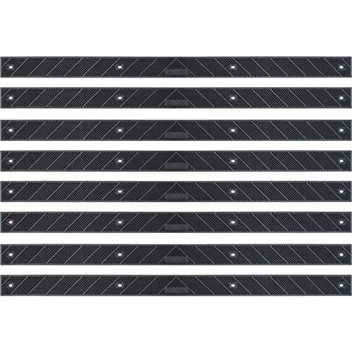 "(Grip Strip Black Treads, Screw Down Strip No Adhesive all Weather Deep Valley Abrasive Traction - Increase Safety & Injury in your Home or Outdoor Settings, L 32"" x W 2"", 1/8 thickness (8 Pack, Black))"