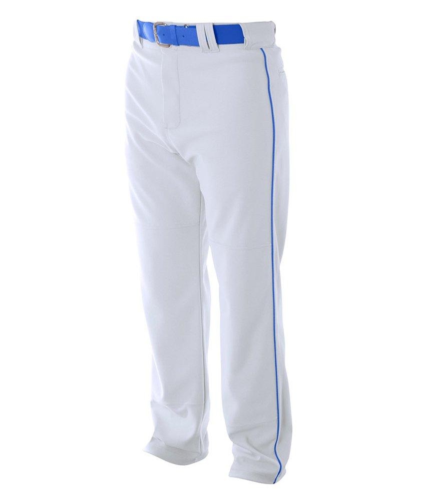 A4 野球用 バギーパンツ メンズ プロ仕様 パイピング入り B003M0I8N6 2XL|White|Royal White|Royal 2XL
