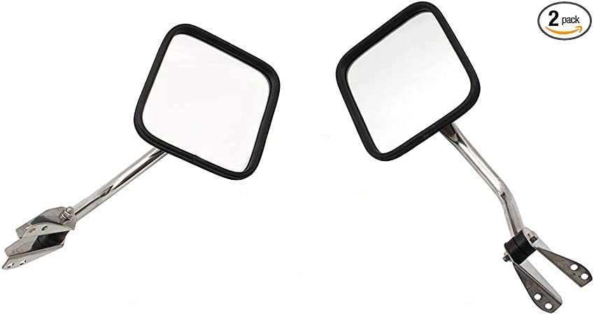 Driver and Passenger Manual Side View Mirrors Replacement for Jeep SUV Pickup Truck CH1320146 CH1321146