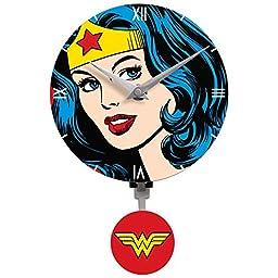 Wonder Woman clock, wall clock with 3-D pendulum, wall decor, size 40\