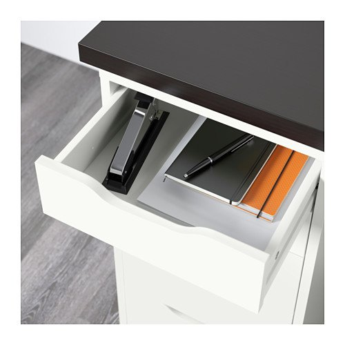 Ikea Table w drawers, black-brown, white 162020.11820.3830 by IKEA (Image #2)