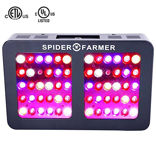 300W Led Grow Light Dimmable Reflector Series Spider Farmer Full Spectrum Veg and Bloom Dimmers for Indoor Plants Hydroponics Growing ()