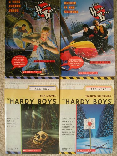 Hardy Boys Set (Training For Trouble, Danger in the Extreme, Skin & Bones, A Game Called Chaos) (Skin And Bones Set)