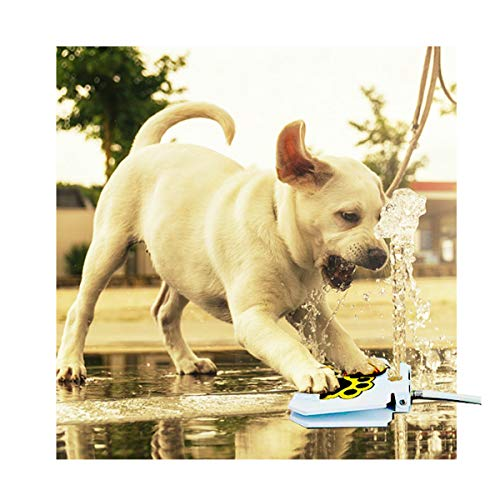 KninePal Upgraded 2018 Pet Dog Step On Water Fountain   Sprinkler Toy - Easy Paw Activated - Fresh, Clean, and Cool Drinking Water for Doggie - 2 Free Bonus - Fountain Garden Copper Steps