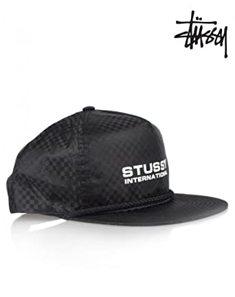 1dfb2dd58e3 Amazon.com  Stussy Mens Checkered Nylon Snapback Adjustable Hat Cap ...