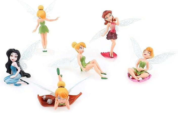 Suxidi Verschiedene Blumenfeen Ornamente Miniatur Figur Gartenornament Blumentopf Puppenhaus Dekoration Küche Haushalt